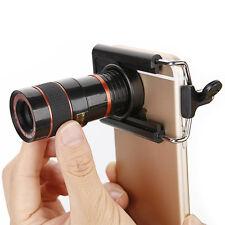 Black Lens Zoom Optical Monocular Mini Mobile Phone Telescope HD Camera Len+Clip