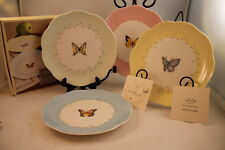 Lenox Butterfly Meadow Dessert Plates Set Of 4 Fine China NEW IN BOX