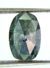 1.62TCW Greenish Blue Oval Rose cut African Loose Natural Diamond