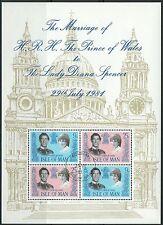Isle of Man - Hochzeit Charles und Diana Block 5 gestempelt 1981 Mi. 194-195