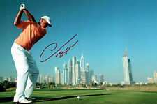 Thomas BJORN 12x8 Photo Signed Autograph Dubai Desert Classic GOLF AFTAL COA