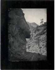 Vintage Mounted Photo - Hanging Rock, Garden of the Gods, Colorado Springs, CO