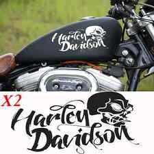 2 stickers autocollant harley davidson sportster skull iron pour reservoir moto