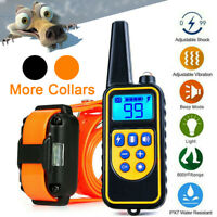 2600FT Dog Shock Training Collar with Remote Rechargeable Waterproof Pet Trainer