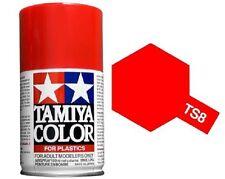TAMIYA COLORI SPRAY 100 ml PER PLASTICA TS8 ITALIAN RED FOR PLASTIC BOMBOLETTA