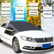 Car Windshield Snow  Sun Shade Winter Ice Dust Frost Guard W/ Mirror  -/ ,.