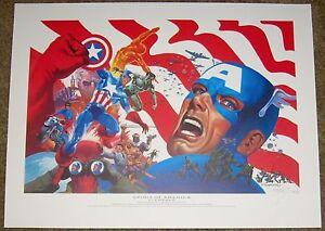 Jim Steranko SIGNED Captain America Spirit of America Fine Art Print 1/20 Dragon