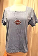 Light blue Harley-Davidson T-shirt, square neckline, short sleeves - Size M