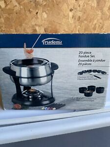 Trudeau 20 Piece Stainless Steel Fondue Set New In Box