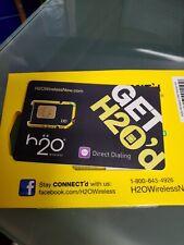 H2O Prepaid Factory Regular Sim Card H2O Wireless Sim Card