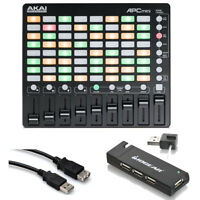 Akai Professional APC Mini Pad Controller + 4 Port USB Hub + Hosa Ext Cable 5 ft