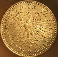 Error! Die Clash! 1864 Silver 1 Kreuzer German States Frankfurt Great Bu shape!