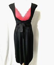 NWT JPARK Sz 3/M/L BLACK HIGH WAIST LOW CUT NECKLINE SLEEVELESS DRESS