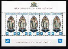 San MARINO 1977 Postf piccoli archi MiNr. 1147 100 ANNI FRANCOBOLLI DI SAN MARINO