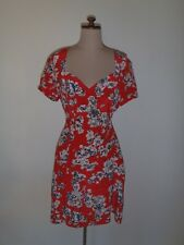 PORTMANS DRESS, SILK, RED WITH PRINT, GOOD CONDITION