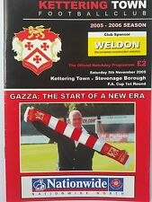 Kettering Town v Stevenage Borough FA Cup 2005 Paul Gascoigne Manager 1st home