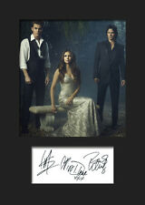 THE VAMPIRE DIARIES #2 A5 Signed Mounted Photo Print - FREE DELIVERY