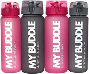 Wasserflasche MY BUDDLE Sportflasche Trinkflasche 0,5-0,75 Liter 2  Farben