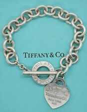 New Style Return to Tiffany & Co Heart Tag Toggle Charm Bracelet .925 Pouch Box