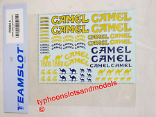 P00014 Team Slot  ' Camel '  Decal Sheet - New & Mint