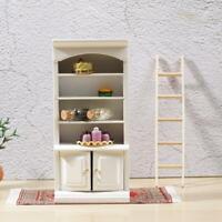 1:12 inch Dollhouse Miniature White & Lilac Bathroom Shelf Cabinet DIY Decor