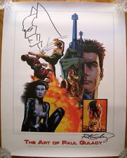 Rare The Art of Paul Gulacy promo poster signed with Batman sketch 1/250