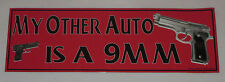 My Other Auto is a 9mm Car Magnet Truck Safe Gun Rights Red New Magnetic