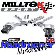 MILLTEK Mustang SSXFD157 5.0 V8 GT Sistema Di Scarico Cat Indietro Non Res Quad Nero
