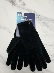 Istoner Womens Glove Black Knit One Size