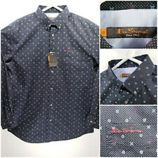 NWT Ben Sherman Mens Large Shirt Short Sleeve Button Up Black