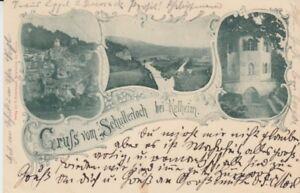 Ansichtskarte Bayern  8420  Gruß vom Schullerloch bei Kelheim  1899