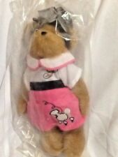 "BOYDS for Longaberger 10"" PLUSH BEAR~""Peggy Sue~Remember When""~Sealed in Plastic"