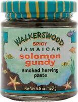3 Bottles Organic Spicy Smoked Solomon Gundy Herring paste Walkerswood JA 5.6oz