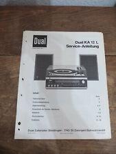Dual KA 12 L Service Manual TOP !!! Reinschauen !!!
