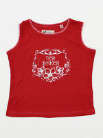 Ted Baker Girls 4yr 8yr 10yr Sleeveless Red Rop Lace T Shirt