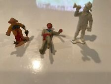 Lot of Vintage Mixed Plastic Toy Figures, Clown Hong Kong, Fireman, Navy Soldier