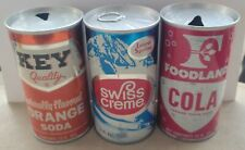 3 Different Brands, Vintage Steel Pull Tab Cans.