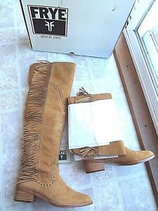 Frye Ray Fringe Over-The-Knee Boot, women 8 (New) - Free Shipping
