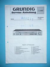 Service Manual-Anleitung für Grundig V 7000 ,ORIGINAL