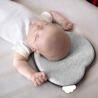 Newborn Baby Protection Pillow Heart Shape Pillow Anti Roll Cushion Flat PillowC