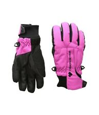 Obermeyer 241537 Girls Kids Waterproof Winter Gloves Back/Fuchsia Size Medium