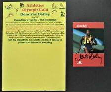 BAILEY DONOVAN CANADA 100m OLYMPIC GOLD MEDAL 1996 SIGNED PROMOPHOTO