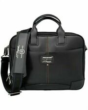 ST DUPONT McLAREN BLACK DEFI CRAFTED PERFORATED LEATHER LAPTOP DOC HOLDER $1500