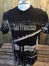 Vintage San Francisco Big Bridge All Over Print Size Large D3