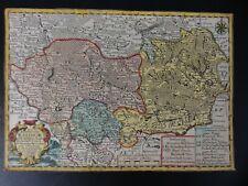 RATIBOR LANDKARTE OBERSCHLESIEN J.G.SCHREIBER 25 x 17,3 cm LEIPZIG 1730