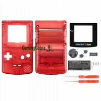 Full Housing Shell Replacement Part for Nintendo Game Boy Color GBC Clear Red