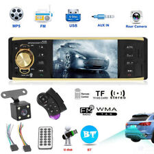 4.1 inch Single 1DIN Car Stereo Video MP5 Player Bluetooth FM Radio AUX USB TF