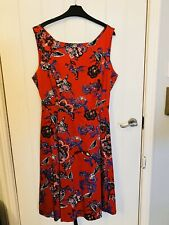 BNWT M&S Per Una Red Floral Tea Dress Size 18 Summer 16 20 RRP £55 1950s Wedding