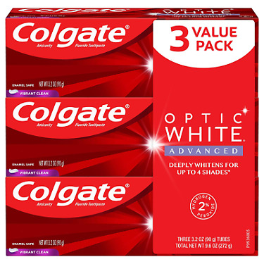 Colgate Optic White Overnight Teeth Whitening Pen Gentle Teeth Stain Remover to