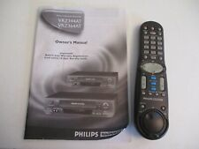 Philips Magnavox VRZ344 AT0 VCR Plus + Recorder and Player Remote & Manual Only